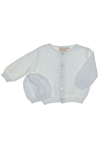 Diamond Sweater and Hat in White [product_tags] sweater- Carriage Boutique