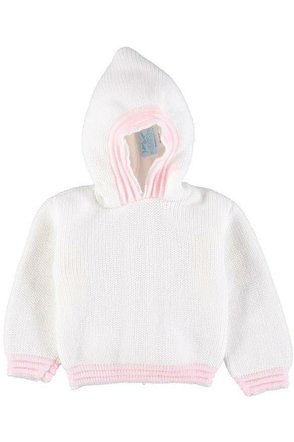 Personalized Zip Back Hoodie with Pink Trim