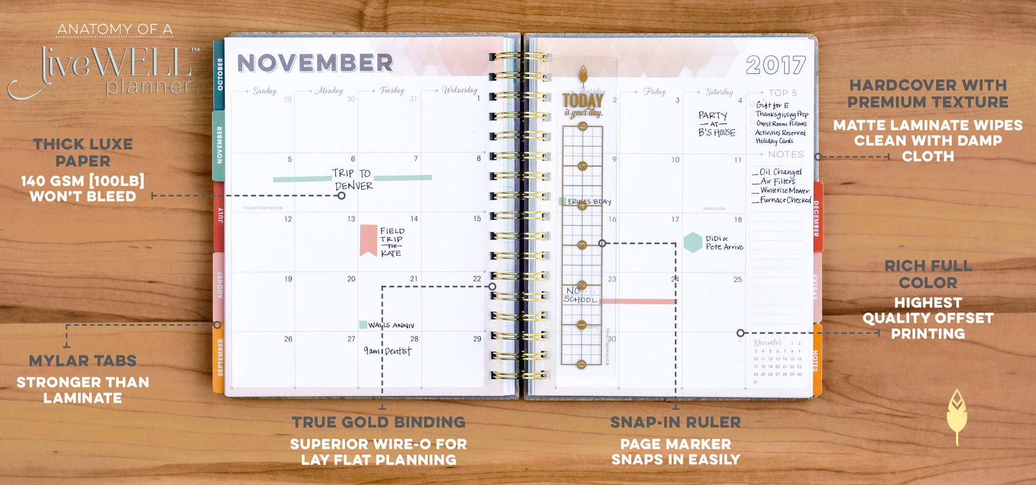 Weekly Planner with two page month view