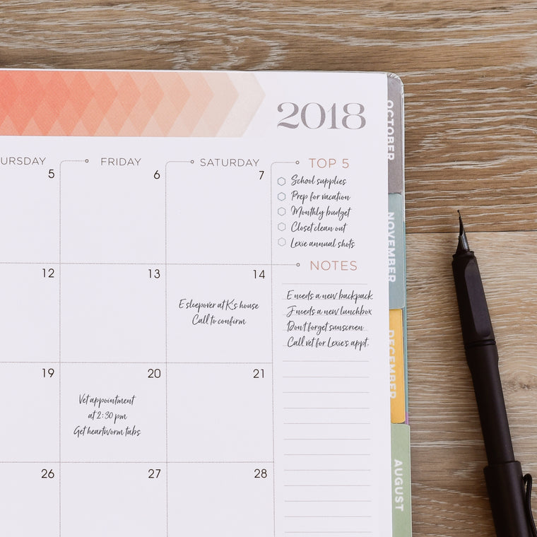 Boost Productivity with the Best 2018 Planner for Focusing on Goals