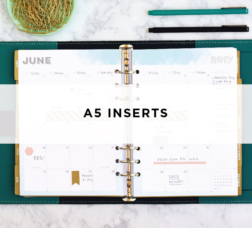 A5 Weekly Planner Inserts for Busy Women