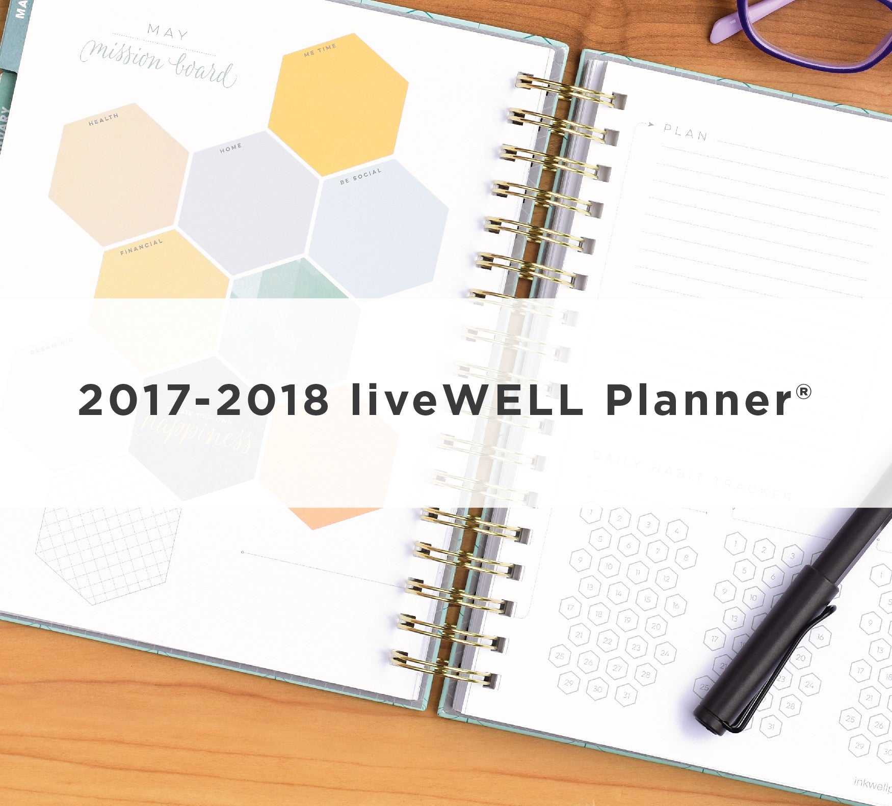 liveWELL Weekly Planner from inkWELL Press in horizontal & vertical  layout