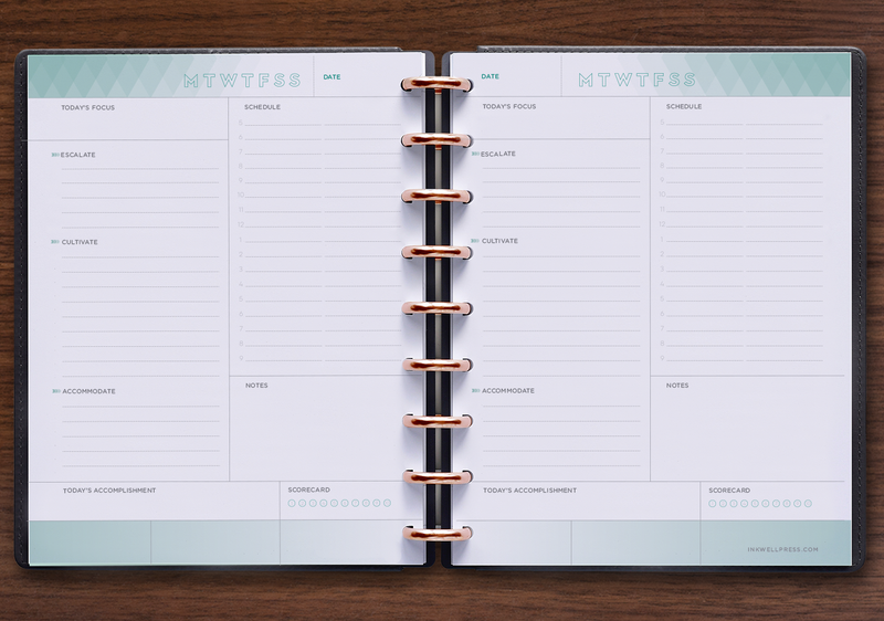JULY 2019-JUNE2020 INKWELL PRESS LIVE WELL PLANNER free pocket planner