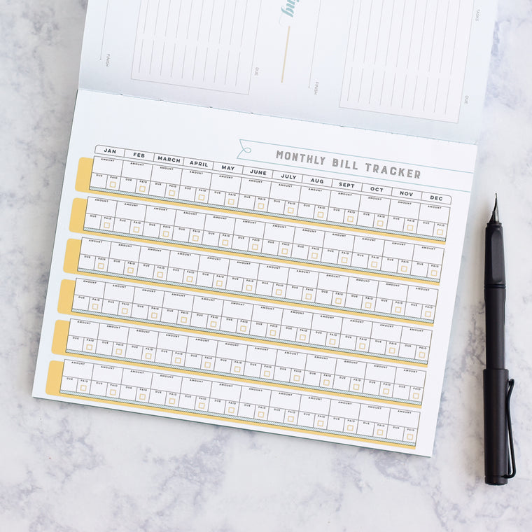 2018 Best Planner for Tracking Goals Includes Bill Organizer