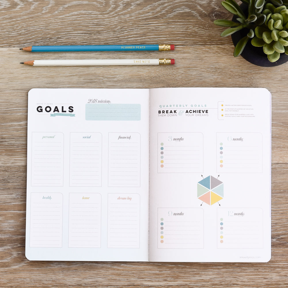 Learn how to set goals in your planner