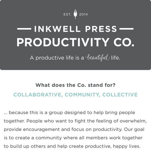 a group designed to help bring people together. People who want to fight the feeling of overwhelm, provide encouragement and focus on productivity. Our goal is to create a community where all members work together to build up others and help create productive, happy lives.