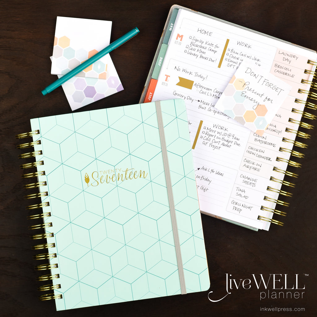 Flex liveWELL Planner Weekly Planner from inkWELL Press with horizontal layout