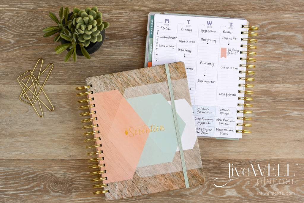 Classic liveWELL Planner Weekly Planner from inkWELL Press with vertical layout