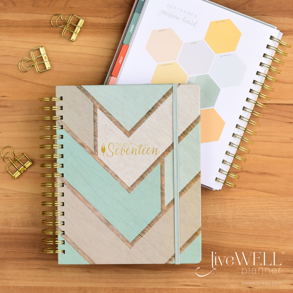 liveWELL Planner Weekly Planner from inkWELL Press with horizontal or vertical layout