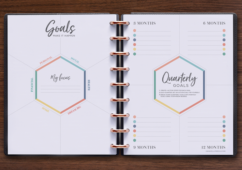 Horizontal Weekly Yearly Goals