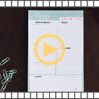 Video for our daily organizational notepad