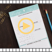 Video for our daily planner organizational notepad