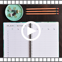 How to set fitness goals in your planner video