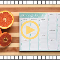 Video for our grocery list organizational notepad