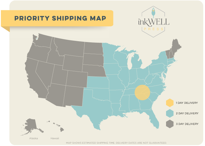 Image of a Shipping Map for our Pretty Planners