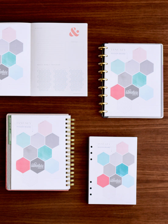 inkwell press 2019 goal setting weekly planner and daily agenda