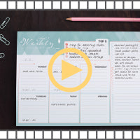 Video for our weekly planner organizational notepad