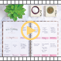 video showing how to meal plan