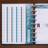 inkWELL Press Weekly Flex Planner Extras Pages with Bill Tracker and Project Planner