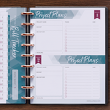 inkWELL Press Monthly Planner Extras Pages with Bill Tracker and Project Planner