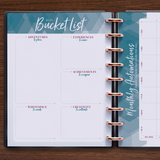 inkWELL Press Weekly Planner with Extra Pages showing Bucket List and Monthly Automations