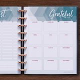 inkWELL Press Monthly Planner showing Extra Pages with Gift List and Gratitude Pages