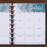 inkWELL Press Flex Planner showing Extra Pages with Gift List and Gratitude Pages