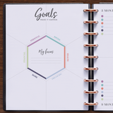 inkWELL Press Weekly Flex Planner with Goal Setting and Quarterly Planning Pages