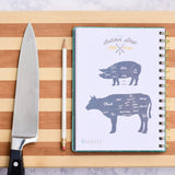 Butcher Chart in the Meal Planner for Women by inkWELL Press