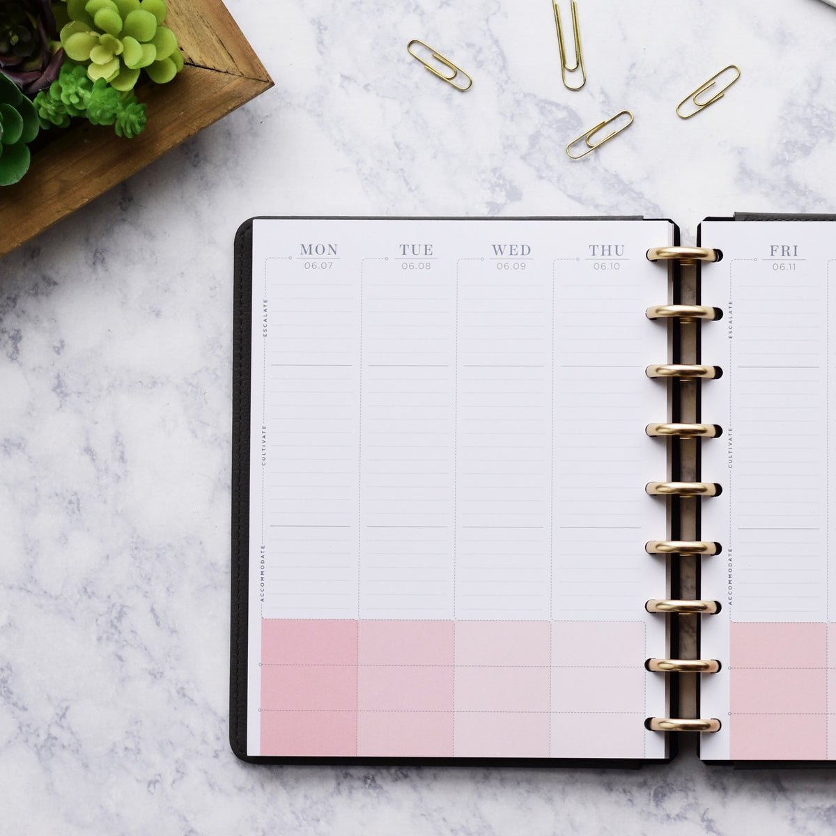 """New 2020 Inkwell Press PINK Weekly Monthly Planner 8.5/""""x11 Notebook At-A-Glance"""