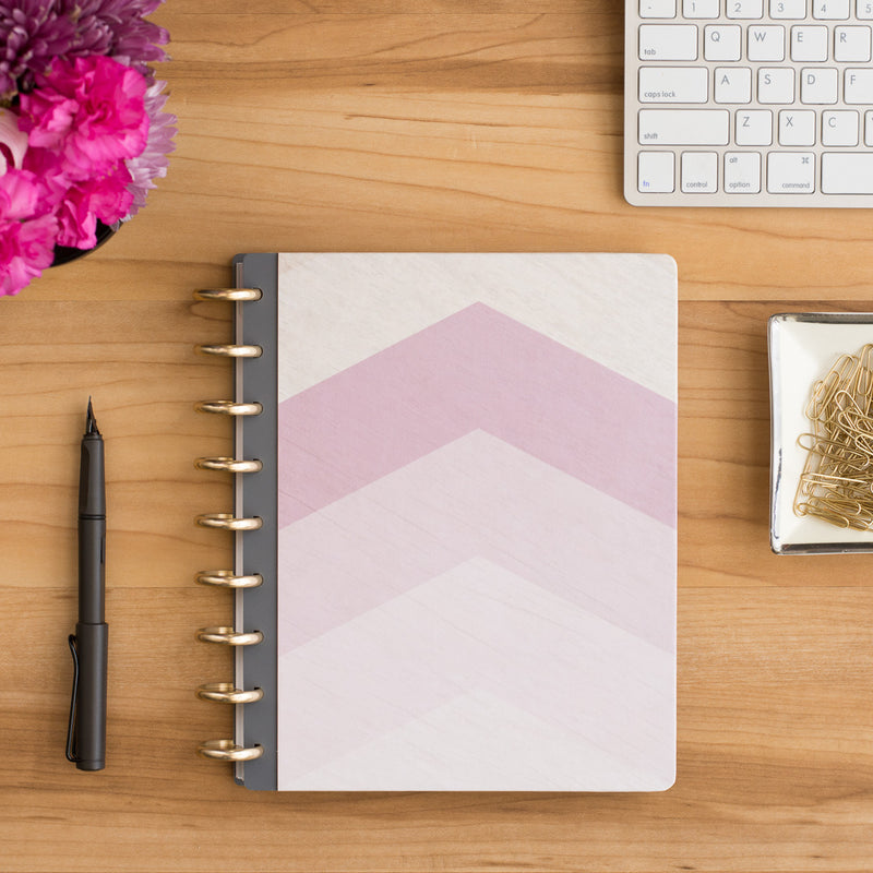 Purple pink geometric disc planner cover by inkWELL Press