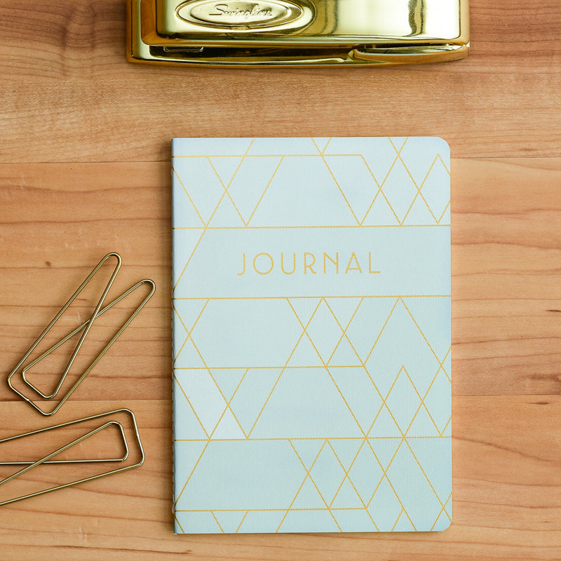 Premium sewn journal with thick paper and gridded notes pages