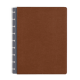 Vegan Leather Brown Saddle Cover for inkWELL Press 360 Disc Planning System