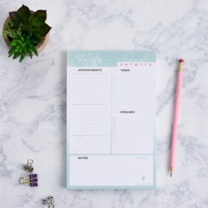 Daily Planner Note Pad to Organize and Prioritize Your Schedule