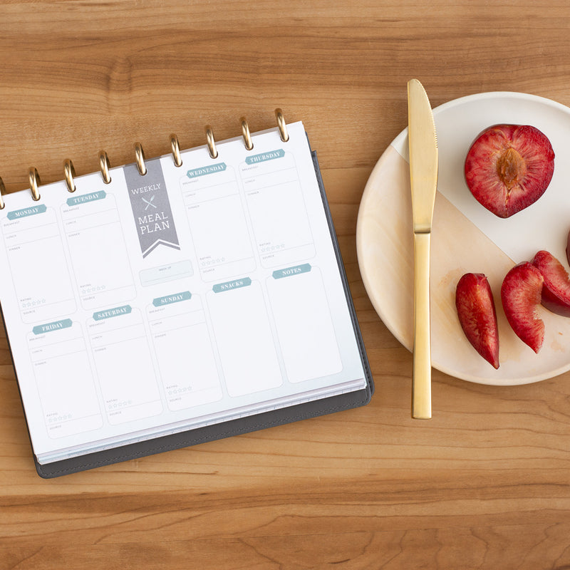 Weekly meal planner inserts for inkWELL Press 360 disc planner