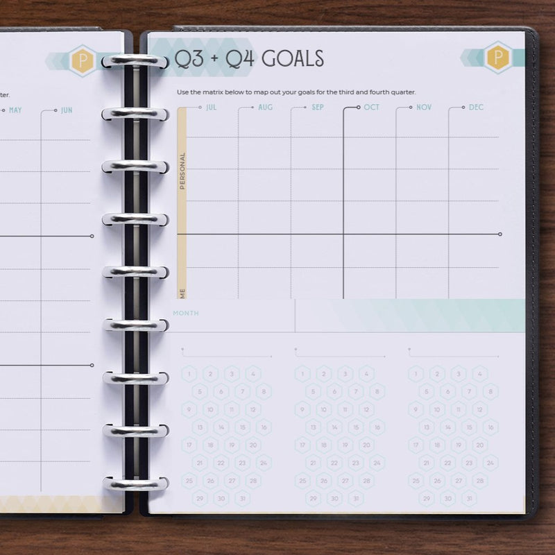 Undated Habit Tracker for inkWELL Press Disc Planners for Goal Setting