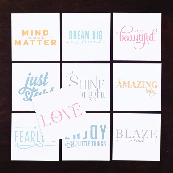 Letterpress Motivational Cards from inkWELL Press