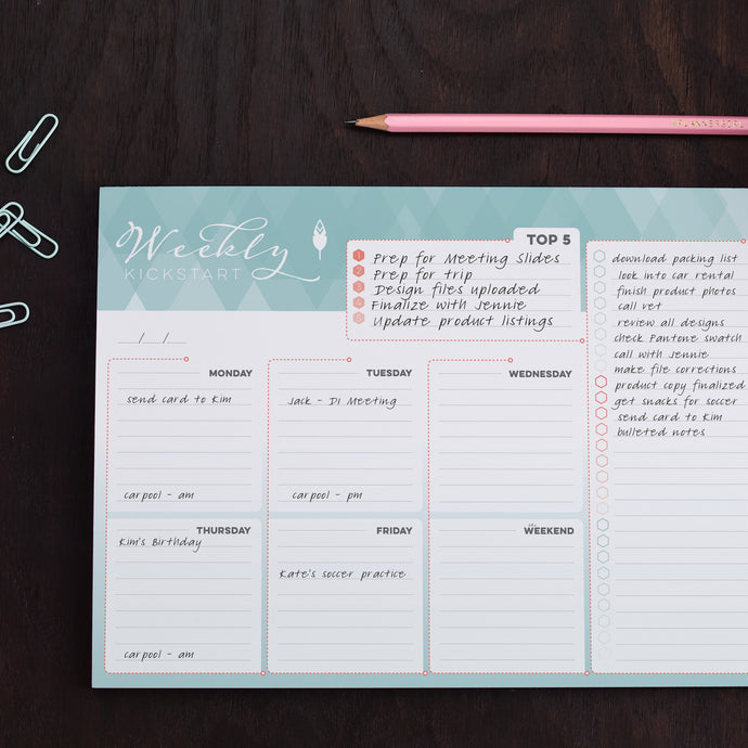 Weekly Planner Notepad to Organize Your Weekly Schedule, Errands and Tasks
