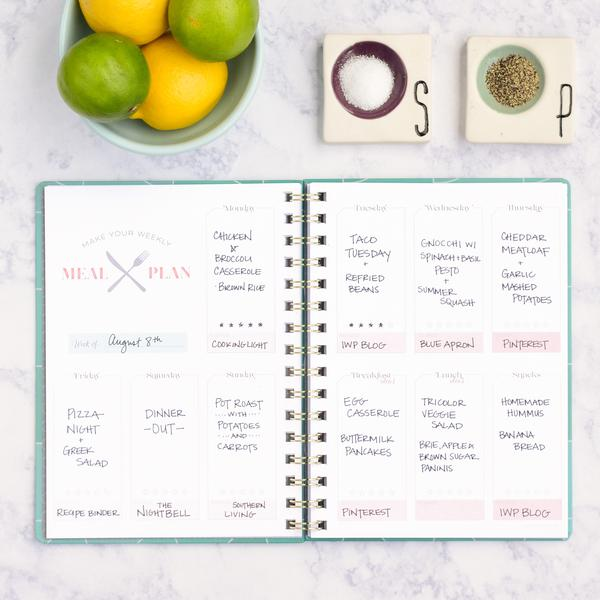 inkWELL OUTLET | Meal Planner - Multicolor Triangle