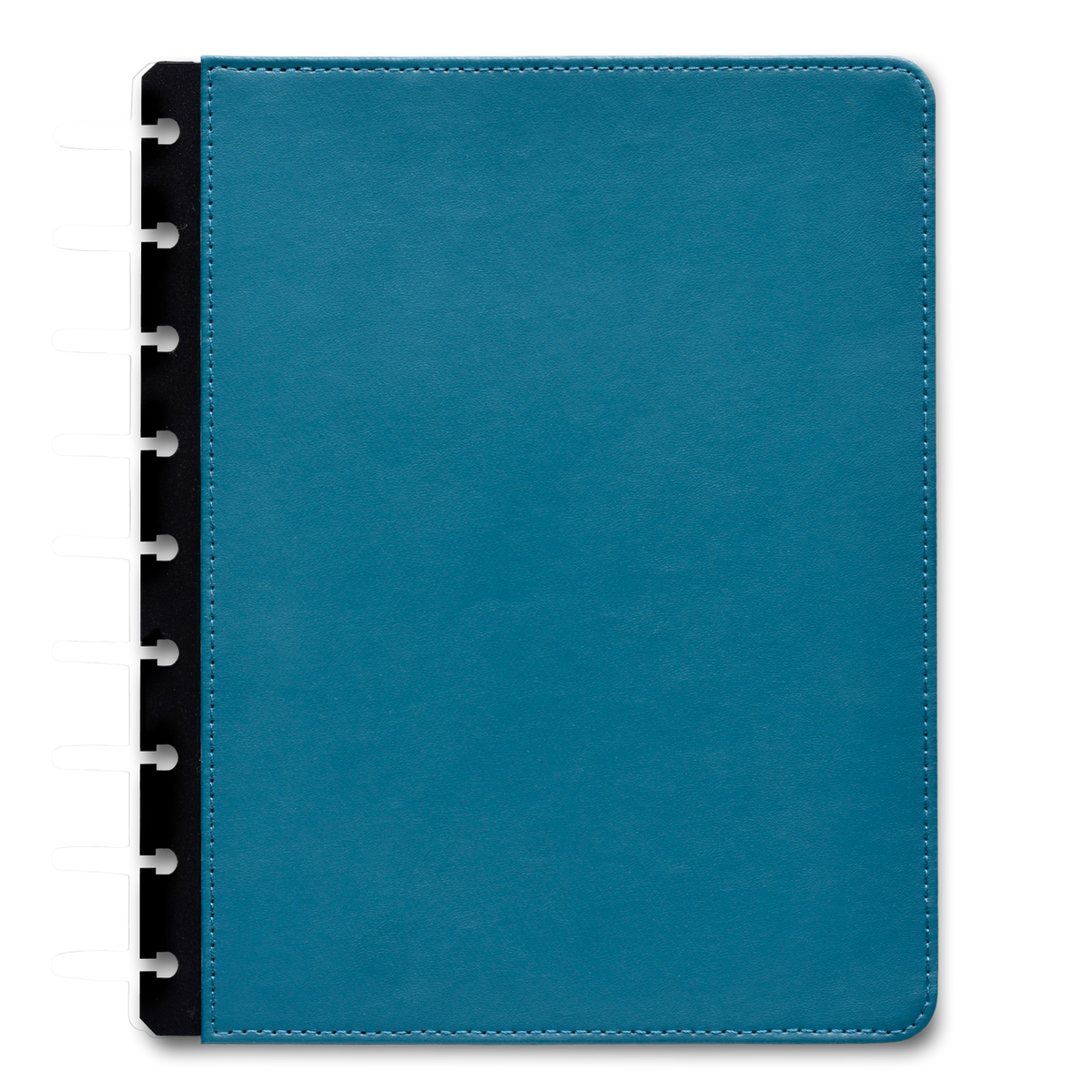 Blue Vegan Leather Customizable Planner Cover