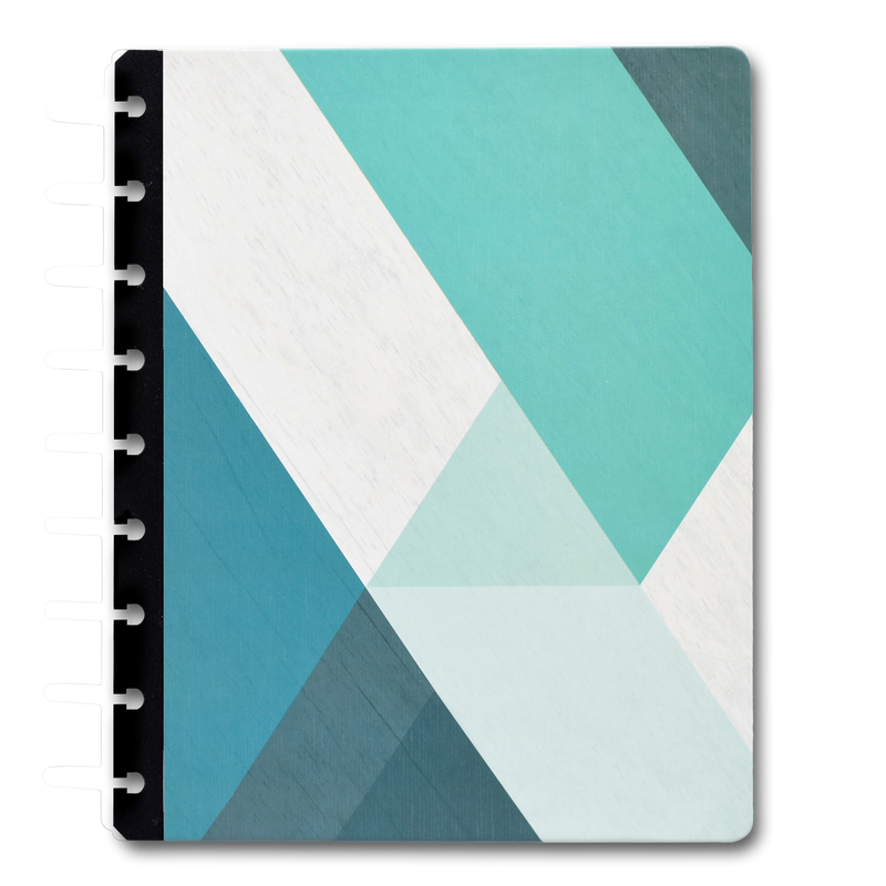Gorgeous Blue Teal Disc Hard Cover Planner from inkWELL Press