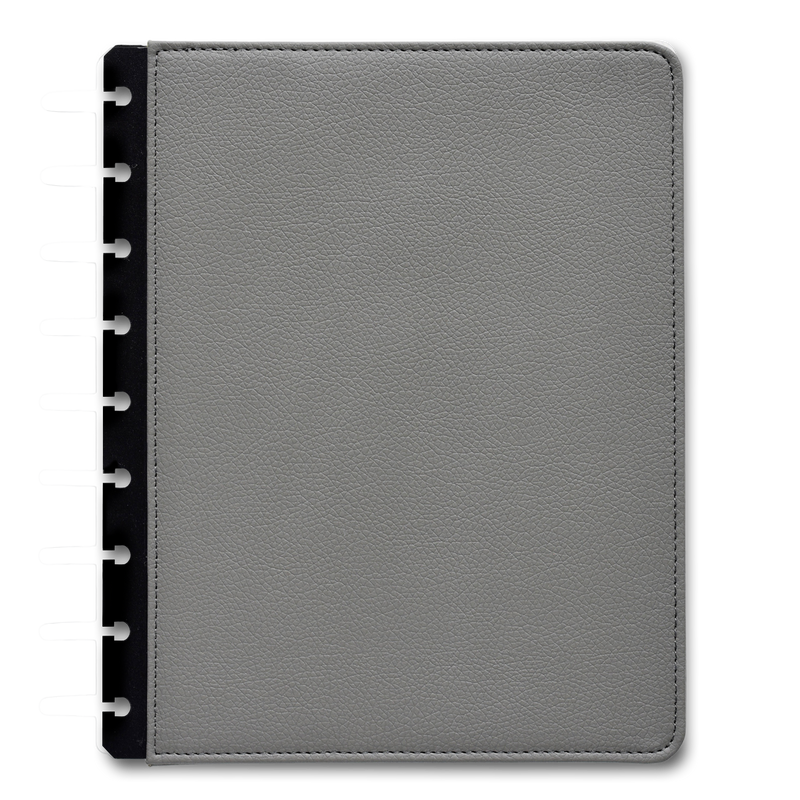 Vegan Leather Gray Cover for 360 Disc Planner