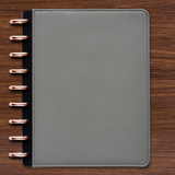 Vegan Leather Gray Pebble Cover for Customizable inkWELL Press Planner