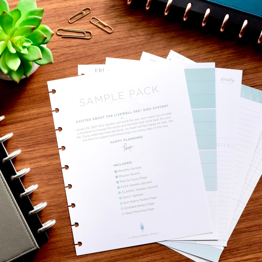 Colorful Sample Pack Pages for 360 Disc System