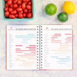 Seasonal Fruit and Vegetable Chart in the Menu Planner by inkWELL Press