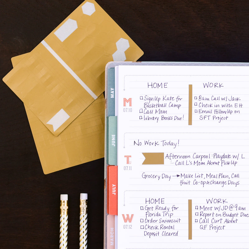 Washi Sheet of Gold Stickers for Weekly Planner from inkWELL Press
