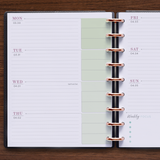 Two Page Horizontal Weekly Flex Layout for 360 Disc Planner