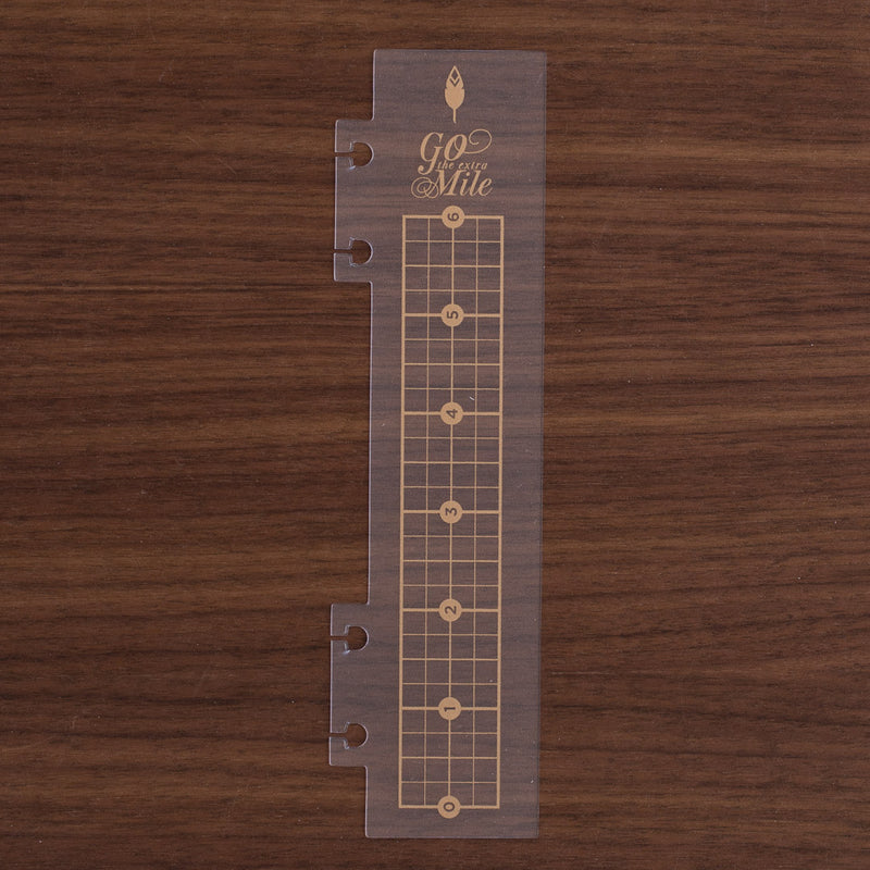 Go The Extra Mile 360 Disc System Gold Movable Ruler Book Marker