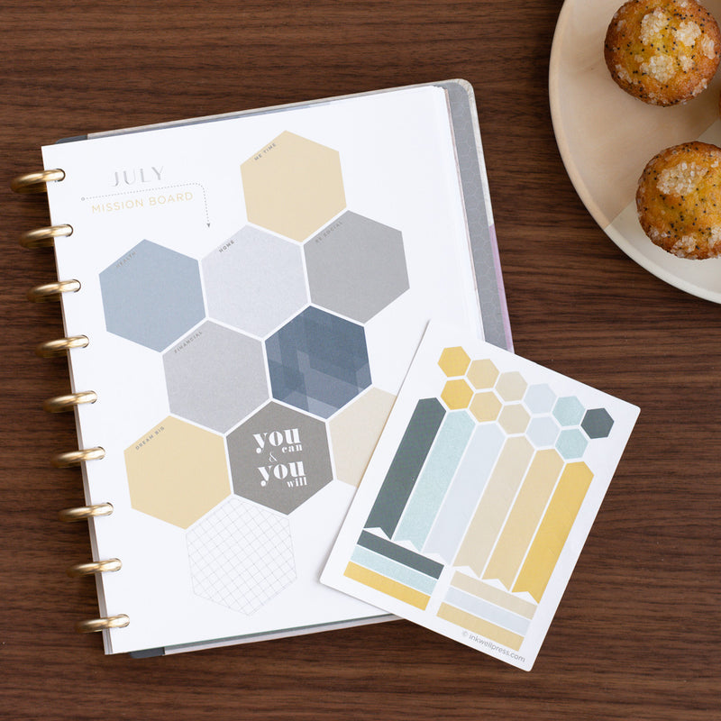356 Colorful InkWELL Press Stickers for Customization and Creative Planning