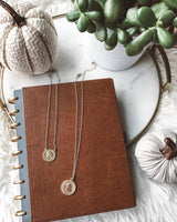 gold-discs-brown-vegan-leather-planner-tusksandtails